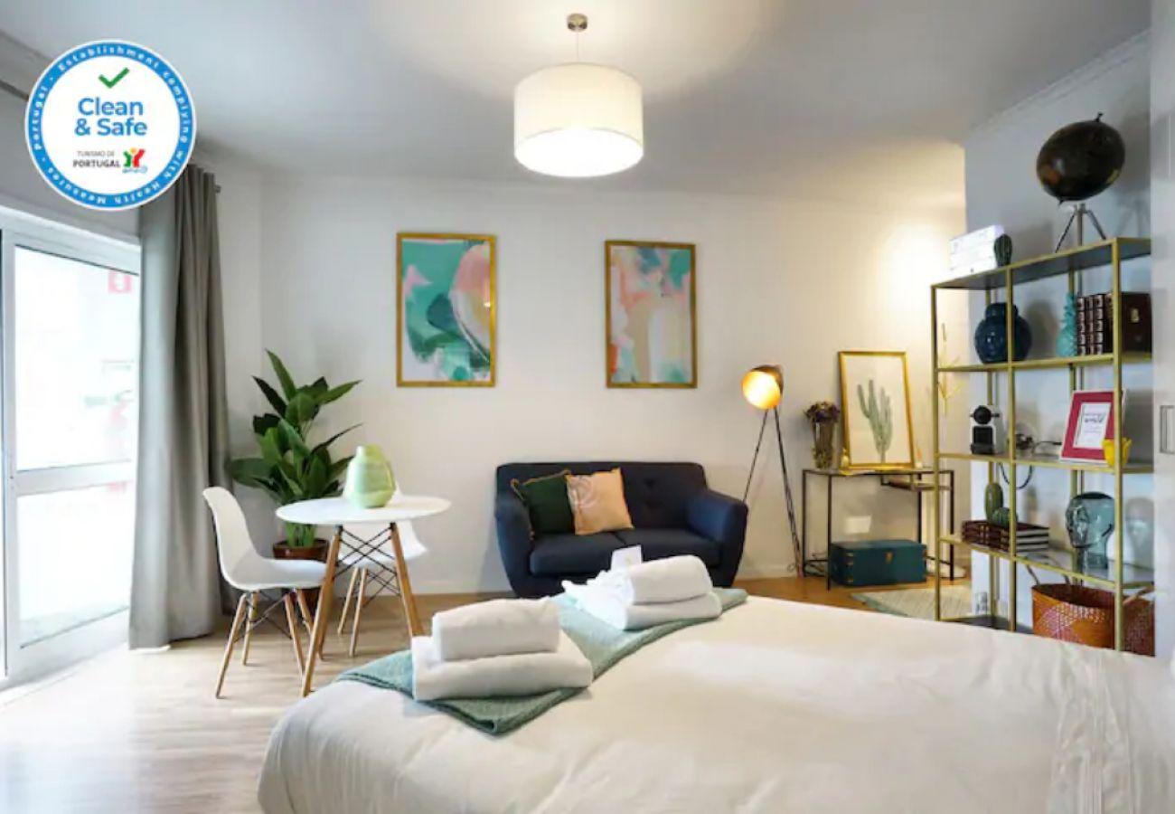Estudio para alugar em Lisboa confortável e bem equipado