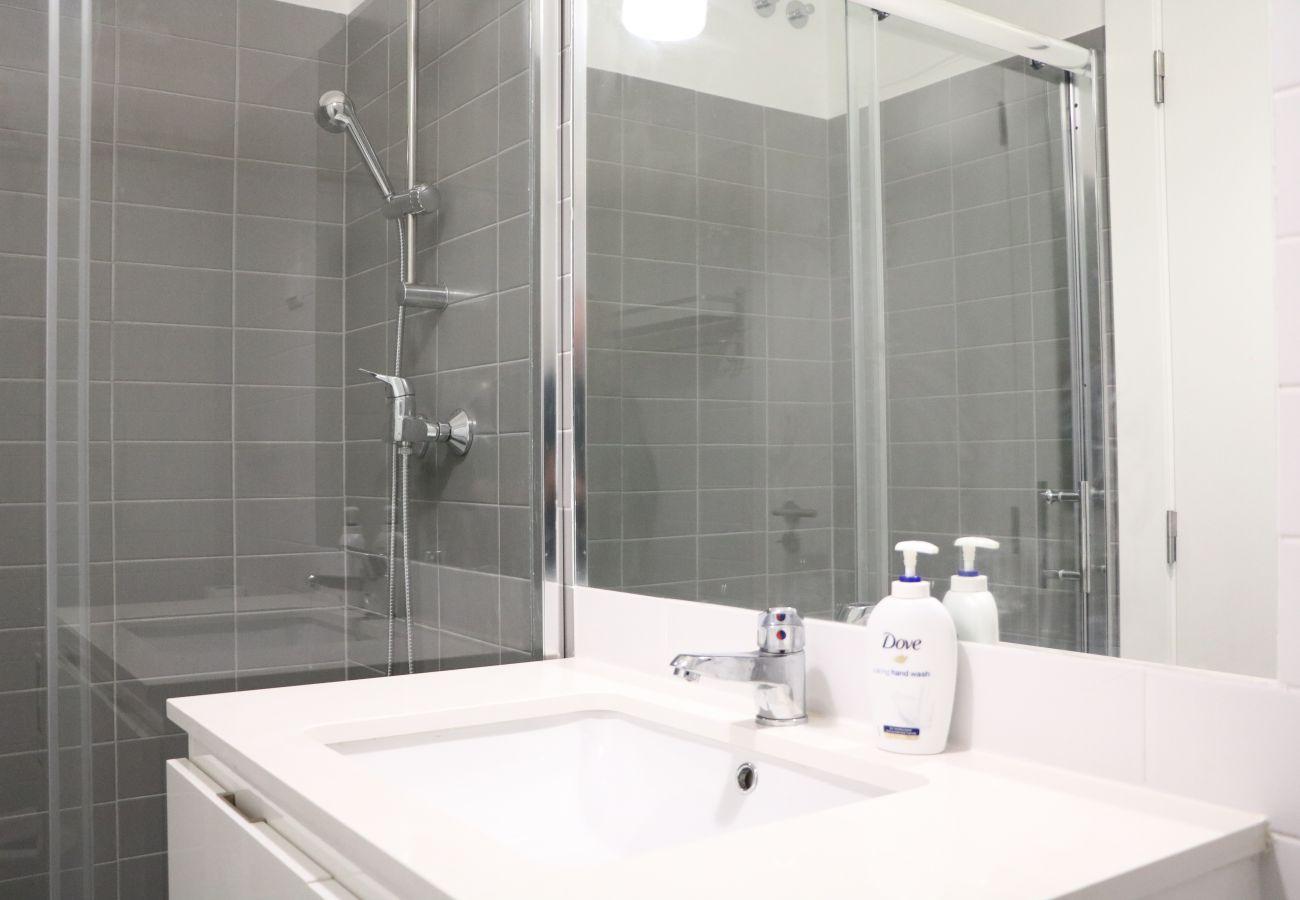 Badezimmer in der Wohnung in der Altstadt