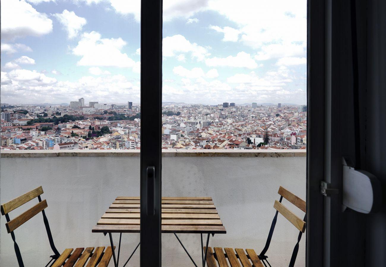 Blick über Lissabon in Graça | Kurzzeitmiete